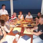 Cena d'estate al Cafè de Mar a Vesima